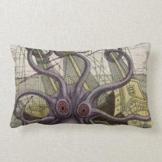 Kraken Octopus Eatting A Pirate Ship Lumbar Pillow