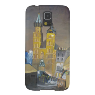 Krakow at night galaxy s5 cases