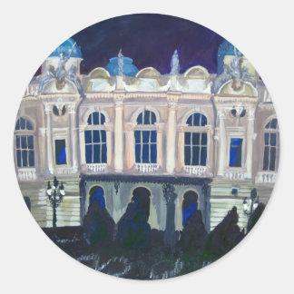 Kraków Juliusz Słowacki Theatre. Classic Round Sticker