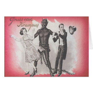 Krampus Kidnapping Couple Card