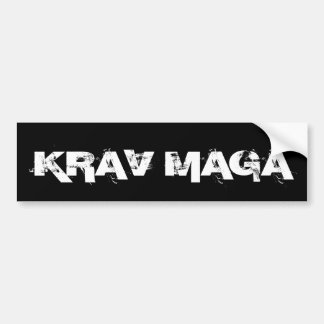 Krav Maga Martial Arts Self Defence Bumper Sticker