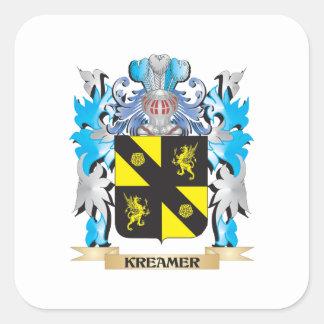 Kreamer Coat of Arms - Family Crest Square Sticker