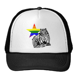Kris Alan grizzly bear Rainbow Cap