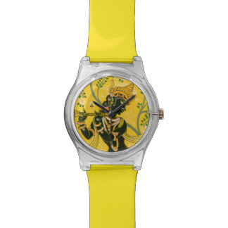 Krishna with His Flute Wrist Watch