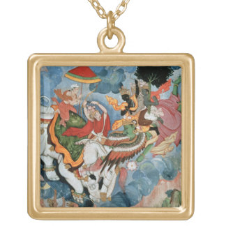 Krishna's combat with Indra, c.1590 Gold Plated Necklace
