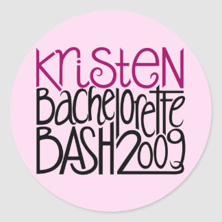 Kristen Bachelorette Bash 09 Round Sticker