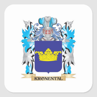 Kronental Coat of Arms - Family Crest Square Sticker