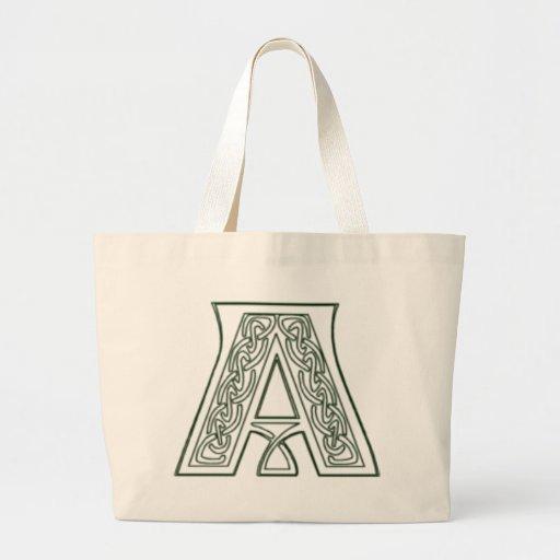 KRW - A - Celtic Monogrammed Tote Bag