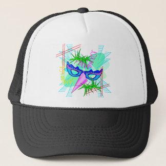 KRW Colorful Mardi Gras Mask Trucker Hat