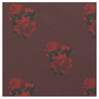 KRW Gothic Red Roses Fabric