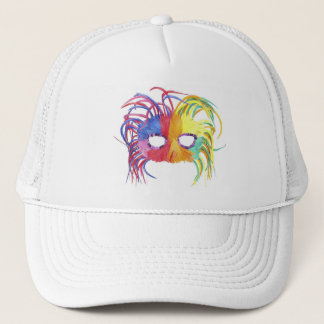 KRW Mardi Gras Feather Mask Trucker Hat