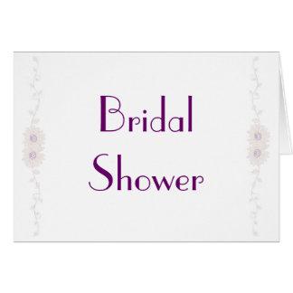KRW Pale Daisy Custom Bridal Shower Invitation Greeting Card