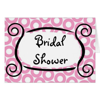 KRW Pink Circle Custom Bridal Shower Invitation