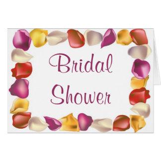 KRW Rose Petals Custom Bridal Shower Invitation Greeting Card