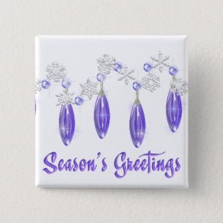 KRW Season's Greetings Snowdrops Pin Purple