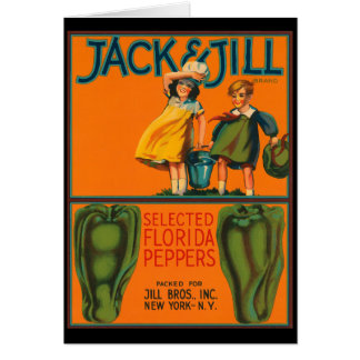 KRW Vintage Jack and Jill Peppers Crate Label Cards