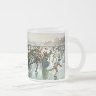 KRW Vintage Skaters 1885 Holiday Frosted Mug
