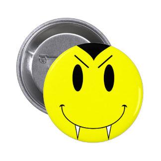 KRW Yellow Smiley Face Vampire 6 Cm Round Badge