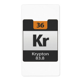 Krypton 83.8 Periodic Table Shipping Label