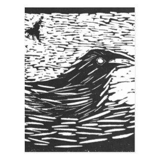 KT's Raven Carving Postcard