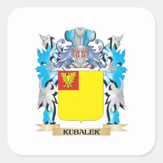 Kubalek Coat of Arms - Family Crest Square Sticker