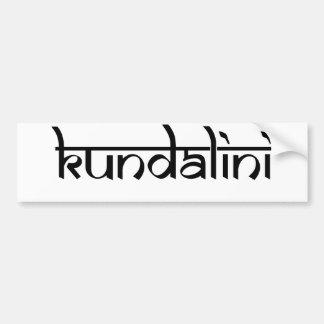 Kundalini Design on Sanskrit Style Bumper Sticker