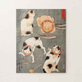 Kuniyoshi Four Cats Puzzle