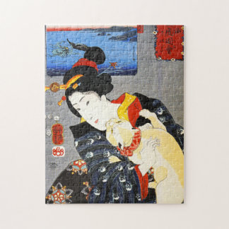 Kuniyoshi Woman with a Cat Puzzle