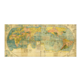 Kunyu Wanguo Quantu 1602 Japanese World Map Canvas Print