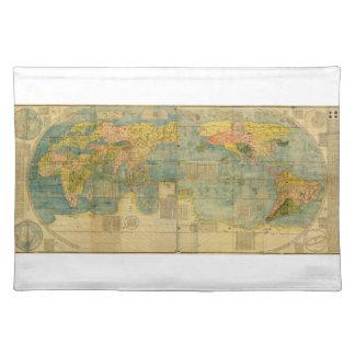 Kunyu Wanguo Quantu 1602 Japanese World Map Place Mats