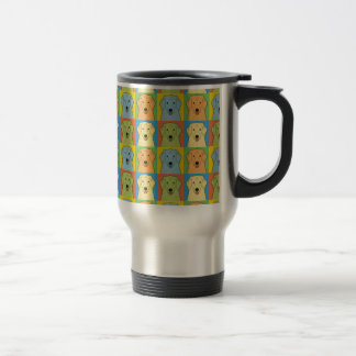 Kuvasz Dog Cartoon Pop-Art Coffee Mug
