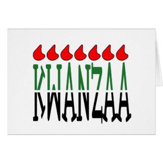 Kwanzaa Afire Kwanzaa Holiday Notecards Card