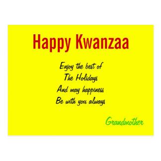 Kwanzaa holiday postcards