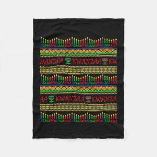 Kwanzaa Wall Kwanzaa Fleece Blanket