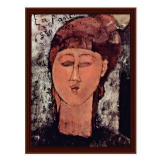 L Enfant Grass By Modigliani Amedeo Post Card