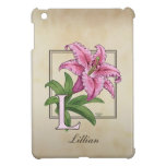 L for Lily Floral Monogram