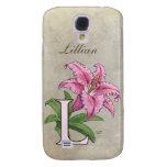 L for Lily Flower Monogram