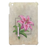 L for Lily Flower Monogram Case For The iPad Mini