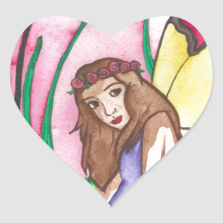 L is for Lamia Heart Sticker