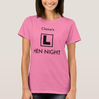 """L Plate"" design hen party t-shirt (pink)"