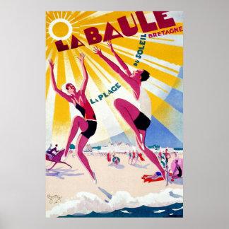 """""""La Baule"""" Vintage French Travel Poster"""