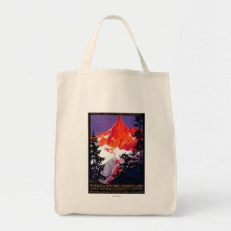 La Chaine De Mont-Blanc Vintage PosterEurope Grocery Tote Bag