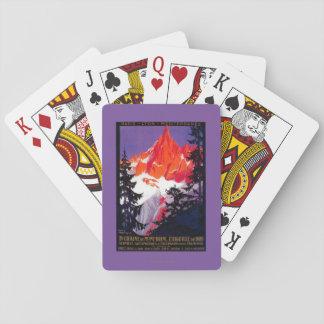 La Chaine De Mont-Blanc Vintage PosterEurope Poker Cards