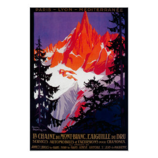 La Chaine De Mont-Blanc Vintage PosterEurope Poster