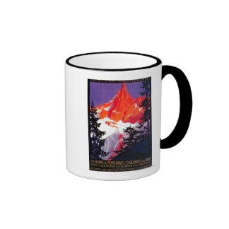 La Chaine De Mont-Blanc Vintage PosterEurope Ringer Mug