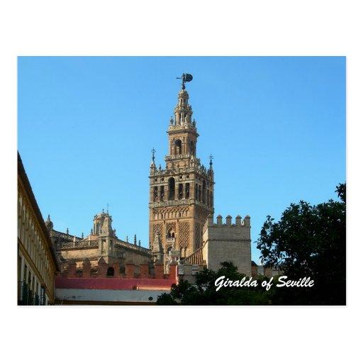 La Giralda of Seville, travel postcard