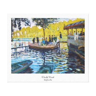 La Grenouillere Claude Monet fine art painting Stretched Canvas Print