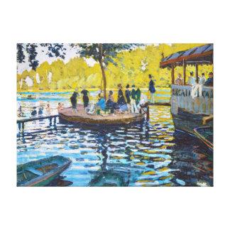 La Grenouillere Claude Monet fine art painting Gallery Wrap Canvas