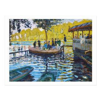 La Grenouillere Claude Monet fine art painting Postcard