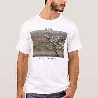 la línea US MEXICO BOARDER - Hi Rez T-Shirt